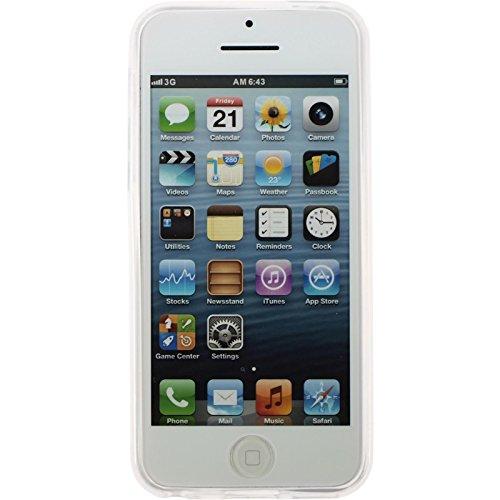 PhoneNatic Case für Apple iPhone 5c Hülle Silikon rot matt Cover iPhone 5c Tasche + 2 Schutzfolien Transparent
