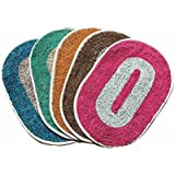 Christy's Collection Set Of 5 Colorful Cotton Door Mat