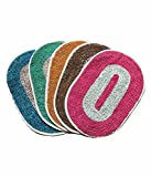 #2: Christy's Collection Set Of 5 Colorful Cotton Door Mat