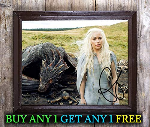 Emilia Clarke Game of Thrones Autographed Signed 8x10 Photo Reprint #48 Special Unique Gifts Ideas for Him Her Best Friends Birthday Christmas Xmas Valentines Anniversary Fathers Mothers Day (Christmas Game Ideen)