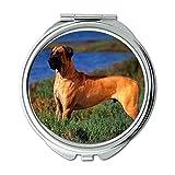 Yanteng Spiegel, Schminkspiegel, Pudel Hund Nemecka Doga, Taschenspiegel, 1 X 2X Lupe