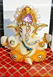 #9: IndiAge Ganesh Idol For Car Dashboard And Home Decor Lord Ganpati Bappa Showpiece (Orange Dhoti 9.5CM)