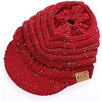 Gorras Mujer Invierno ❄ Sonnena Hombres Mujeres Baggy Warm Sombrero Sombrero de Lana de Invierno de Ganchillo Tejido de esquí Beanie cráneo Envoltura