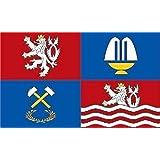 Aufkleber Karlsbad Region Flagge Fahne 12 x 8 cm Autoaufkleber Sticker