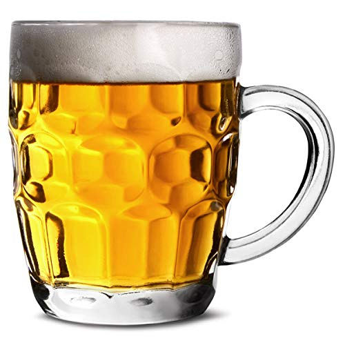 bar@drinkstuff The Great British Half Pint Dimple Mug 10oz / 285ml - Paquet de 4 - Citernes Traditionnels