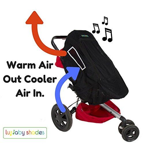 Pare-soleil et store occultant Compatible avec toutes les poussettes, landaus ou poussettes avec prise Unique et jouer de la musique l'entrepôt.