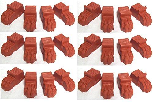6-x-sets-of-terracotta-colour-plastic-lions-feet-plant-pot-feet-4-feet-per-set