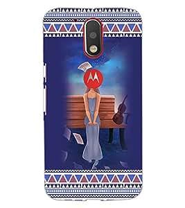 PrintDhaba Sad Girl D-3169 Back Case Cover for MOTOROLA MOTO G4 PLUS (Multi-Coloured)