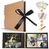 Koooper Libro Aventuras up, Álbum de Fotos DIY, Album up, Scrapbook con un Conjunto de Pluma de Color, Tijeras, Pegatinas - Regalo único para el cumpleaños/Aniversario / Boda/graduación