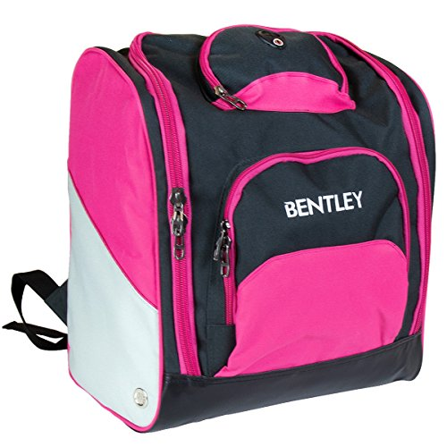 517XdVKItvL - Charles Bentley Women's Deluxe Ski Boot Bag Rucksack Backpack Winter Sports Holdall - Pink sports best price Review uk