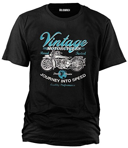 "Camiseta ""Vintage Motorcycles Road Tested"""