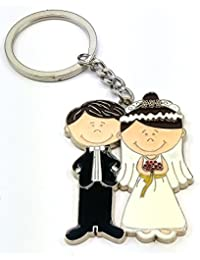 Newly Married Couple Cute Couple Valentine Couple Keychain Keyring, Valentine Love Metal Keychain, Gift For Boyfriend...