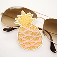 Ananas Patch Aufnäher Applikation Aufbügler aprikot/gold
