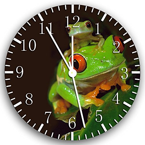 Ikea Wanduhr, Frosch, 25 cm, Grün