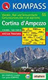 Cortina d' Ampezzo: Wander-, Rad- und Skitourenkarte mit Panorama. Carta escursioni, bike e sci alpinismo. GPS-genau. 1:50.000 - 55 KOMPASS
