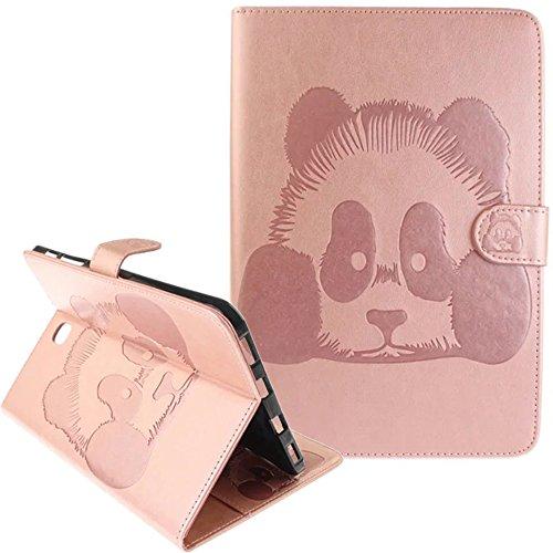 Preisvergleich Produktbild Samsung Galalxy Tab S2 8.0(2015) T715 T710 Hülle Leder [Rosa] ISENPENK Wallet Magnet, Tiere Muster 3D Panda Samsung Galalxy Tab S2 8.0(2015) T715 T710 Flip Case Tasche Handyhülle Lederhülle 3-in-1 Bookstyle Geldbörse Tasche