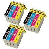PerfectPrint - 12 compatibles cartuchos de tinta T1295 Para Impresora Epson Stylus SX230 SX235W SX420W SX425W SX435W SX440 SX445W SX525WD SX535WD SX620FW, Epson Stylus Office B42WD BX305F BX305FW BX305FW Plus BX320FW BX525WD BX535WD BX625FWD BX635FWD BX925FWD BX935FWD, WorkForce WF-3010DW