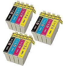 PerfectPrint - 12 compatibles cartuchos de tinta T1295 Para Impresora Epson Stylus SX230 SX235W SX420W SX425W SX435W SX440 SX445W SX525WD SX535WD SX620FW, Epson Stylus Office B42WD BX305F BX305FW BX305FW Plus BX320FW BX525WD BX535WD BX625FWD BX635FWD BX925FWD BX935FWD, WorkForce