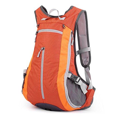 OUTAD Outdoor 15L Rucksack Kletterrucksack Sporttasche Camping-Rucksack (Orange)
