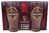 "Guinness 2 Pack Pint Gläser - Ruby Rot Collection ""New für 2017"""