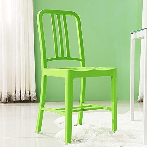 Che era il Nord Europa sedie da pranzo il Navy Chair sedia in plastica schienale moderno minimalista Desk banco caffetteria??????Verde Creative