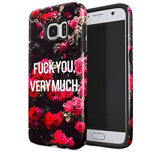 Paisley-snap (Cover Universe Hüllen für Samsung Galaxy S6 Hülle, Fuck You Very Much Red Roses Pattern stoßfest, zweilagig mit Hardcase aus PC + Hülle aus TPU, hybride Case Handyhülle)