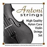 Antoni AVS011S - Juego de cuerdas para violín, 1/8 y 1/16 011