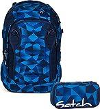 Satch Schulrucksack-Set 2-tlg Match Blue Crush 9A2 blue crush
