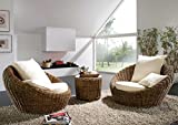 Rattansessel rund Lounge Insel Rattan SYRACUSA Rundsofa Rattan, Möbel aus Rattan