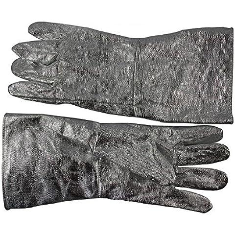 YONG Guantes ignífugos de aluminio resistentes a altas temperaturas de fundición y asar a fuego radiación calor