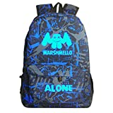 CTOOO Zainetto Bag Light Marshmello Alone Donna Uomo Ragazza Ragazzo Ado Unisex Media Superiore Impermeabile Fashion