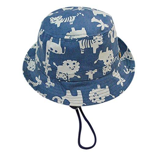 Cloud Kids Sonnenhut Baby UV-Schutz Fischerhut Kappe Sommerhut Tierdruck Hut Freizeithut Blau Size 48: Kopfumfang 46cm (Sonne Babys)