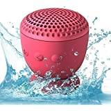 Whitelabel Tiny Drop Waterproof Speaker Newest Bluetooth 4.0 Wireless Portable Speaker Subwoofer Bass Sound Box With Suction Cup for Bluetooth-enable smart phones ,PCs, laptops etc (pink)