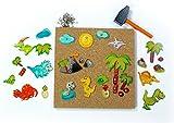 Hess Holzspielzeug 50144 - Hammerspiel Dino