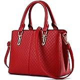 Mailo Damen Leder Handtaschen Damen Umhängetasche Klassisch Damentasche Messenger Bags Large Tote Rot