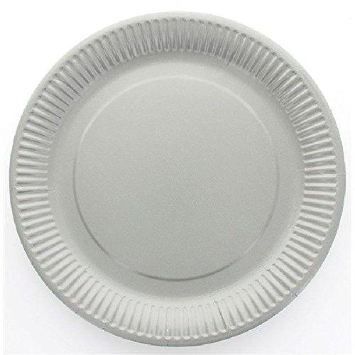 Assiette jetable X10 - gris