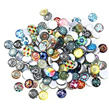 Surtido de mosaicos y azulejos de vidrio Rosenice de 12 mm para manualidades, 200 piezas