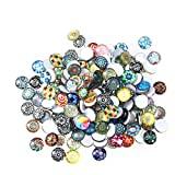 ROSENICE Carreaux de mosaïque 12mm Mixed Round for Crafts Glass Mosaic Supplies pour bijoux Making 200pcs