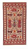 Trendcarpet Kelim Teppich Afghan Maliki Sumak Scenery 189 x 103 cm