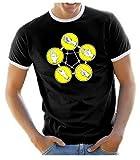 piedra papel tijera lagarto Spock Big Bang Theory–camiseta Hombre + Mujer S–XXL, diferentes colores, Schwarz Herren, xx-large