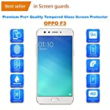 OPPO F3 Premium Tempered Glass Screen Protector Guard With FREE Installation Kit
