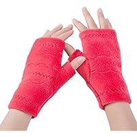 guantes sin dedos para mujeres con medio dedo guantes deportivos gimnasio fitness gimnasio ciclismo invierno guantes tácticos, guantes de felpa más cálidos