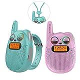 Walkie-talkie per bambini ricaricabili con radio FM, 2 miglia di distanza, occhi LED scintillanti, orologi indossabili Walkies-talkie Giocattoli per bambini Bicicletta, Escursionismo, Campeggio