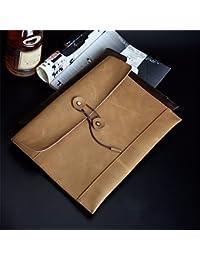 Preisvergleich für Männliche Tasche vintage Baoshin Tasche Leder Handtasche Business Briefcase Datei Bag 34 * 25 cm