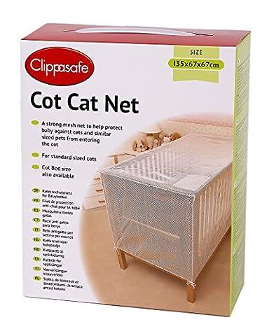 Clippasafe filet de protection anti chat pour lit de bébé