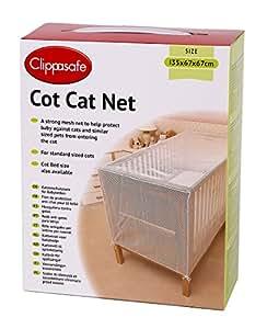 clippasafe filet de protection anti chat pour lit de b b b b s pu riculture. Black Bedroom Furniture Sets. Home Design Ideas