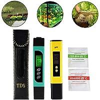 3in1 TDS + EC + medidor de la temperatura y medidor digital del pH de LCD con la función auto de la calibración, monitor de la calidad del agua de la exactitud Probador portable del estilo de la pluma para el agua potable, la hidroponía, la jardinería, los acuarios, las piscinas y los balnearios