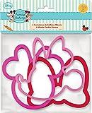 Stor 77808 - Set de 3 cortadores de galletas plástico en bolsa, formas de Minnie