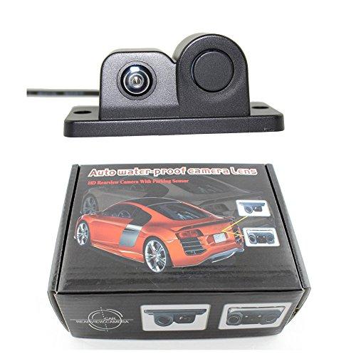 Jamicy® Auto-Rückfahrkamera, 120° Weitwinkel HD Einfache Installation Rückfahrkamera mit Radar-Einparkhilfe für PKWs Lieferwagen Geländewagen Lieferwagen