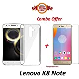 Shoppingmonk Lenovo K8 Note / KillerNote (Combo Offer) Orignal All Sides Protection Line TPU Soft Shiny Silicon Slim Flexible Perfect Finish Back Case Cover + Premium Tempered Glass Screen Protector - - - ( Transparent )